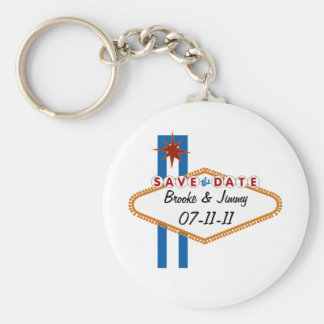 Las Vegas Save the Date Key Ring