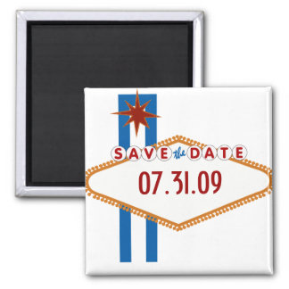 Las Vegas Save the Date Square Magnet