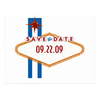 Las Vegas Save the Date Postcard