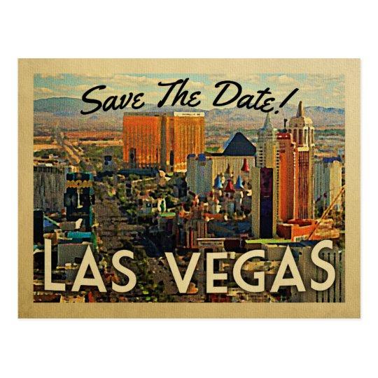 Las Vegas Save The Date Vintage Postcards