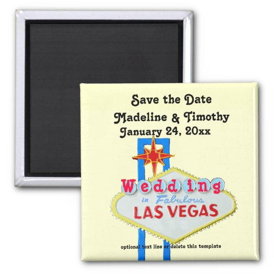 Las Vegas Save the Date Wedding Neon Sign