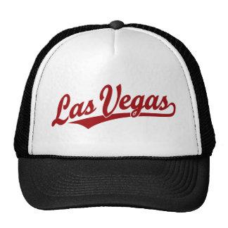 Las Vegas script logo in red Cap