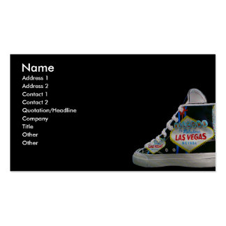 Las Vegas shoe Pack Of Standard Business Cards