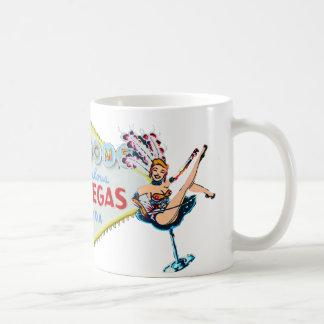 Las Vegas Showgirl and Sign Basic White Mug