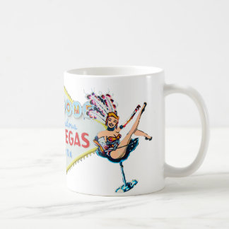 Las Vegas Showgirl and Sign Coffee Mug