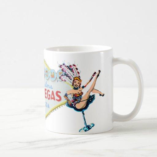 Las Vegas Showgirl and Sign Coffee Mug
