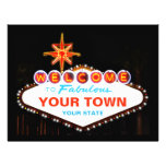 Las Vegas Sign 21.5 Cm X 28 Cm Flyer