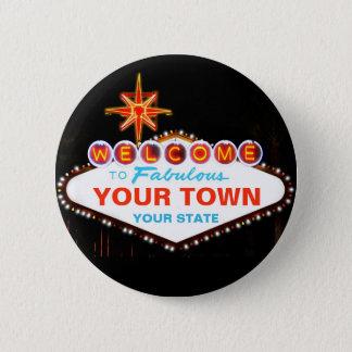 Las Vegas Sign 6 Cm Round Badge
