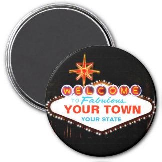 Las Vegas Sign 7.5 Cm Round Magnet