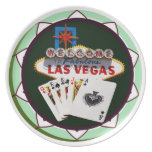 Las Vegas Sign And Two Kings Poker Chip