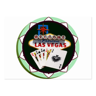 Las Vegas Sign And Two Kings Poker Chip Pack Of Chubby Business Cards
