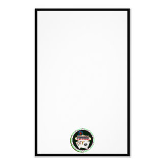 Las Vegas Sign And Two Kings Poker Chip Customized Stationery