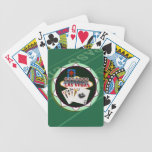 Las Vegas Sign And Two Kings Poker Chip Bicycle Poker Cards