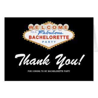 Las Vegas Sign Bachelorette Party Thank You Card