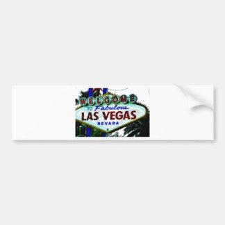 Las Vegas Sign Car Bumper Sticker