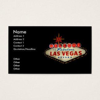 Las Vegas Sign Business Card