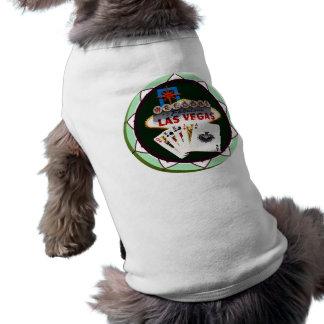 Las Vegas Sign & Cards Poker Chip Sleeveless Dog Shirt