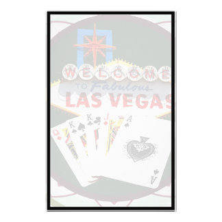 Las Vegas Sign & Cards Poker Chip Stationery Paper