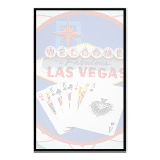 Las Vegas Sign & Cards Poker Chip Stationery Design