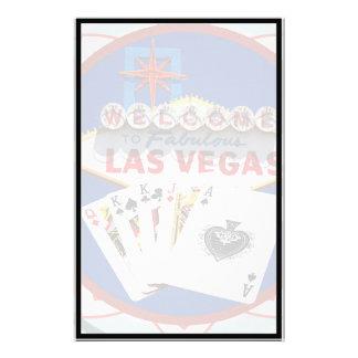 Las Vegas Sign & Cards Poker Chip Stationery Design