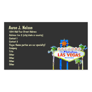 Las Vegas Sign Casino Theme Party Planner Pack Of Standard Business Cards