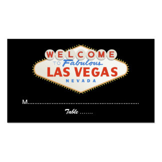 Las Vegas sign destination wedding place card Pack Of Standard Business Cards
