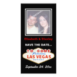 Las Vegas sign destination wedding Save the Date Personalized Photo Card