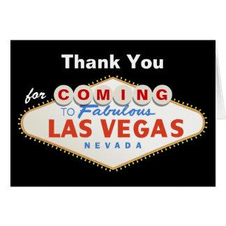Las Vegas sign destination wedding Thank You Note Card