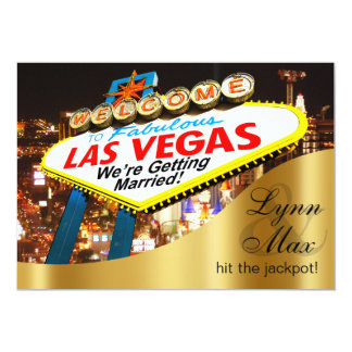 Las Vegas Sign Informal Fun Wedding 13 Cm X 18 Cm Invitation Card