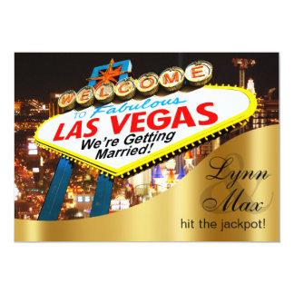 Las Vegas Sign Informal Fun Wedding 13 Cm X 18 Cm Invitation Card