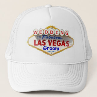 "Las Vegas Sign Logo Groom Cap ""WEDDING"""