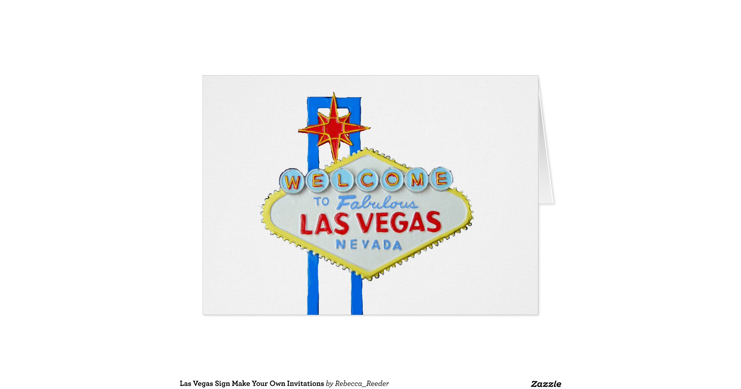 Las Vegas Sign Make Your Own Invitations Note Card