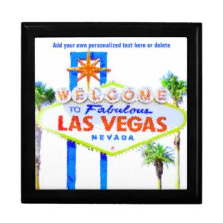 Las Vegas Sign on The Strip Large Square Gift Box