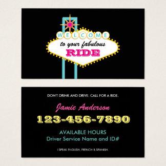 Las Vegas Sign Professional Driver Business Card