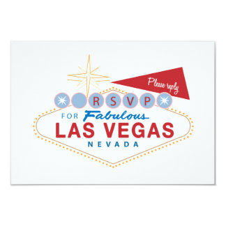 Las Vegas Sign RSVP | Wedding Response Card 9 Cm X 13 Cm Invitation Card