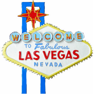 Las Vegas Sign Standing Photo Sculpture