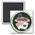 Las Vegas Sign & Two Kings Poker Chip