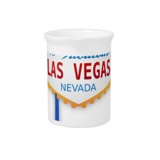 Las Vegas Sign Usa America Casino Gambling Games Pitchers