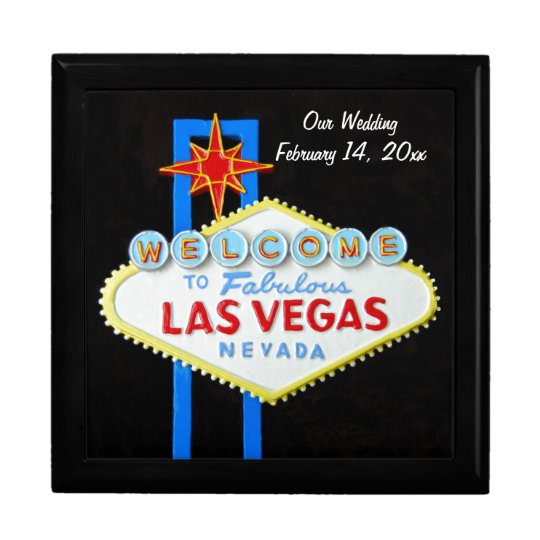 Las Vegas Sign Wedding Date Large Square Gift