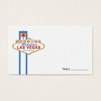 Las Vegas Sign Wedding Place Cards