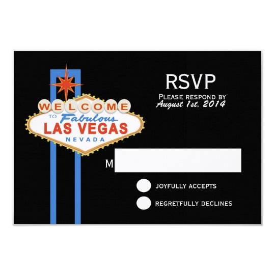 Las Vegas Sign Wedding Response Card