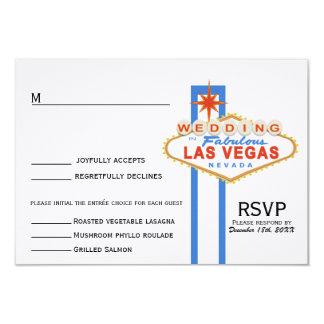 Las Vegas Sign Wedding Response Card (with menu)