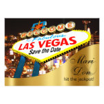 Las Vegas Sign Wedding Save the Date Personalised Announcements