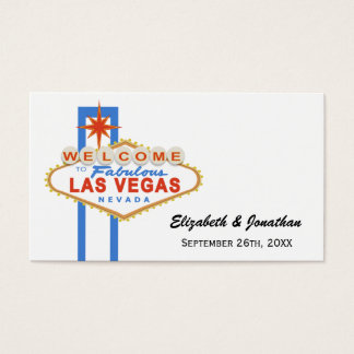 Las Vegas Sign Wedding Website Cards