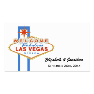 Las Vegas Sign Wedding Website Cards Double-Sided Standard Business Cards (Pack Of 100)