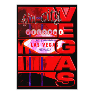 Las Vegas Sin City Party Event Invitation