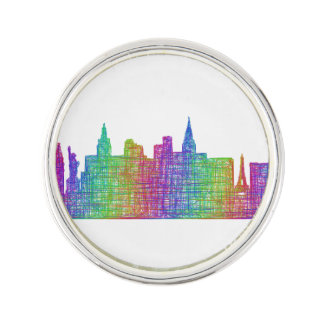 Las Vegas skyline Lapel Pin