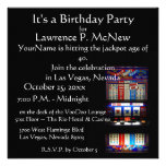 Las Vegas  Slot Machine Birthday Party Personalised Announcements