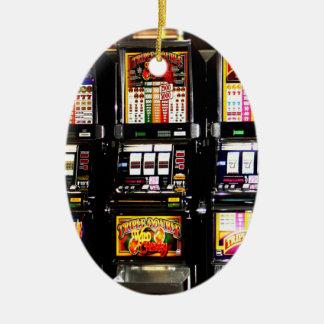 Las Vegas Slots Dream Machines Ceramic Oval Decoration