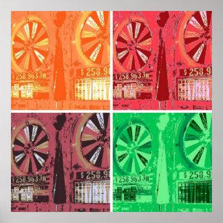 Las Vegas Slots Pop Art Posters